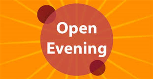 Open Evening 17th Sep.