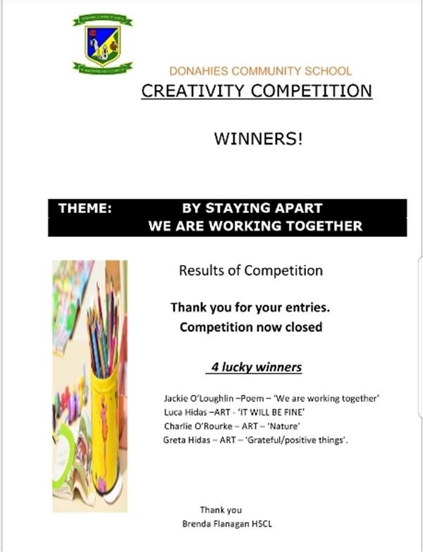 Art Competition Winners!!