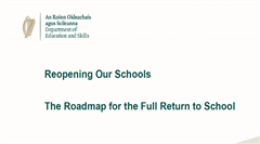 Covid 19 - The Road map for a full return to School