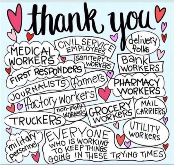 To our whole community & frontline workers - Thank You