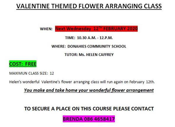 Valentine's Flower Arranging this Wednesday!