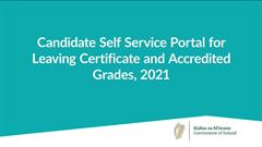 Attention all 6th years - Leaving Certificate Candidate Self-Service Portal – Phase 2 open now. Closes 6pm Friday, 30 April